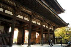 Daikakuji tempel, Kyoto Arkivfoto