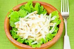 从Daikon和鸡的饮食沙拉 免版税库存图片