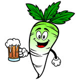 Daikon with Beer Stock Photography