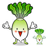 The Daikon mascot has been welcomed with both hands. Vegetable C Stock Photos