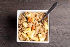 Daikon radish pineapple fried rice top view Royalty Free Stock Images