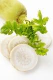 Daikon radish  on white Royalty Free Stock Images