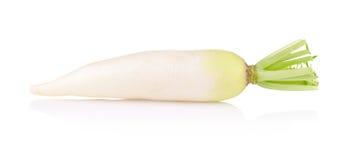 Daikon radishes isolated on white background.  Stock Photography