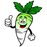 Daikon with Thumbs Up Stock Images