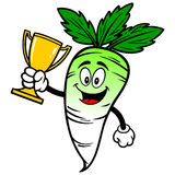 Daikon with Trophy Royalty Free Stock Image
