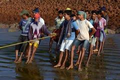 Dailylife of Fishermen Royalty Free Stock Photos