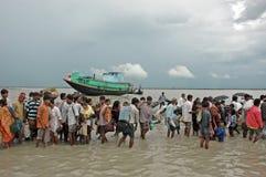 dailylife sundarban的印度 免版税库存照片