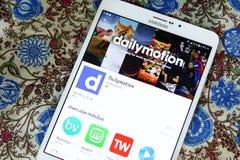 Dailymotion mobiele app Stock Fotografie