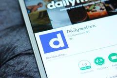 Dailymotion mobiele app Stock Foto