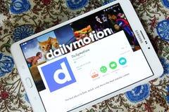 Dailymotion mobile app Royalty Free Stock Photos