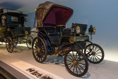 Daimler belt-driven car, 1896 Stock Photos