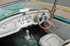 Daimler dart sp250 vintage interior Royalty Free Stock Photo