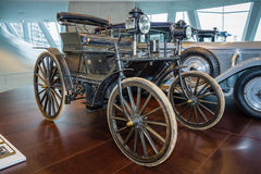 Daimler motor car, purchased by Moulay Hassan I the Sultan of Morocco in 1892. Royalty Free Stock Photos