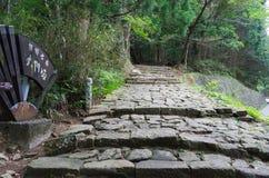 Daimon-zaka slope of Kumano Kodo Royalty Free Stock Photos