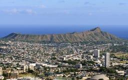 Daimond Kopf und Honolulu Stockfotos