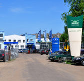 Dainava集中- UAZ和LADA的正式经销商 voronezh 俄国 库存照片