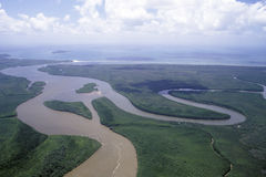 Daintree flod arkivbild