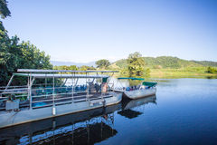 Daintree Riverboar Cruise. Daintree River cruises near the town of Daintree in far nth Queensland, Australia Stock Image