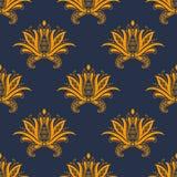 Dainty картина Пейсли персидская флористическая безшовная Стоковое Изображение