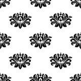 Dainty флористическая картина ткани стиля штофа иллюстрация вектора