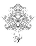Dainty black and white floral element Royalty Free Stock Photos