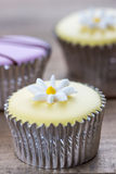 Dainty cupcake with icing design Royalty Free Stock Images