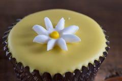 Dainty cupcake with icing design Stock Photos
