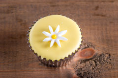 Dainty cupcake with icing design Stock Image