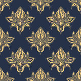 Dainty damask seamless floral pattern Royalty Free Stock Photos