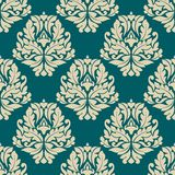 Dainty damask style seamless pattern Royalty Free Stock Photos