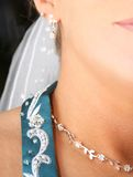 Dainty Details. Close up - stylistic shot of the details a bride attends to Stock Image