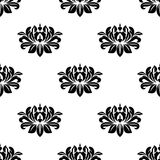 Dainty floral damask style fabric pattern Royalty Free Stock Photography