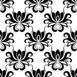 Dainty floral seamless pattern with bold flowers Royalty Free Stock Photo