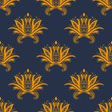 Dainty paisley persian floral seamless pattern Stock Image