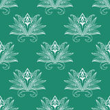 Dainty persian floral seamless pattern Royalty Free Stock Photos
