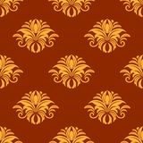Dainty yellow colored floral seamless pattern Stock Photography