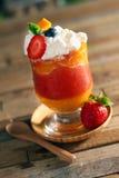 Daiquirí de fresa del mango Foto de archivo