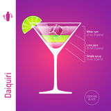 Daiquiri cocktail Stock Image