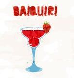 Daiquiri de fraise illustration stock