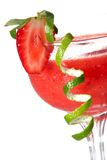 Daiquiri di fragola - la maggior parte del serie popolare dei cocktail Immagini Stock Libere da Diritti