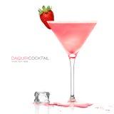 Daiquiri Frozen Cocktail isolated on White Stock Photos