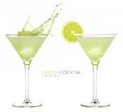 Daiquiri Frozen Cocktail. Splashes Royalty Free Stock Photo
