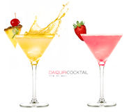 Daiquiri Frozen Cocktails. Splash Royalty Free Stock Photo