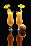 Daiquiri o smoothie della passiflora commestibile fotografia stock