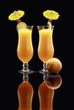 Daiquiri ou smoothie da fruta de paixão Fotografia de Stock
