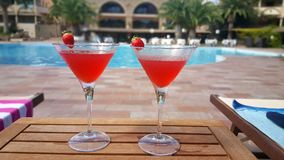 Daiquiri by the pool Royalty Free Stock Image
