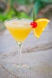 Daiquiri tropical alcoólico de refrescamento do pêssego do cocktail Imagem de Stock Royalty Free