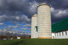 Dairy Barn and Silo stock photography
