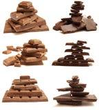 Dairy and black chocolate Stock Photo