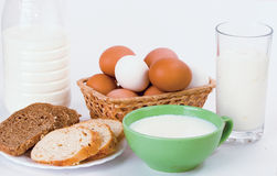 Dairy breakfast Royalty Free Stock Image